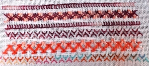 TAST Week 6 Chevron Stitch Sample