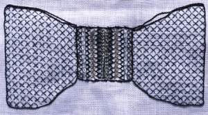 Blackwork Bow Tie