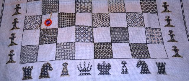 Blackwrok Chessboard, the black side of the boarad