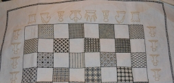 Blackwork chessboard white side of board