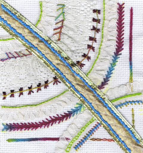Chain Stitch Sampler or Ribbons, Ruffles, and Chains