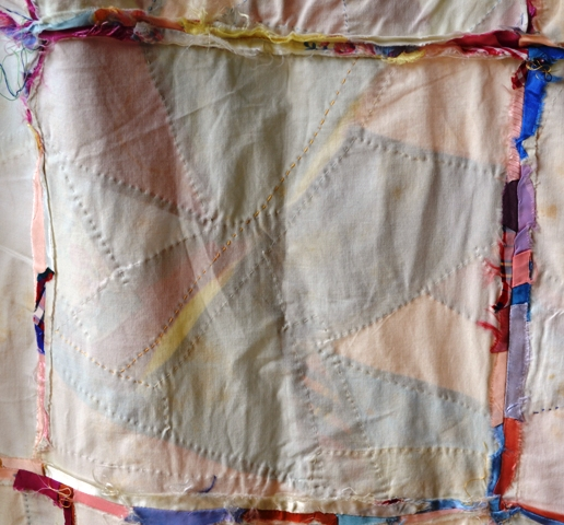 The back of one square on the Almost Crazy Quilt