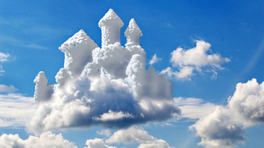 cloud castle wallpaper