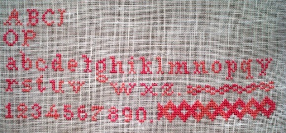 Erna Schuppelius sampler from 1900