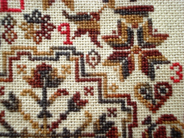 Quaker Virtues Sampler another close up