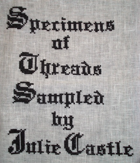 Blackwork Thread Sampler book cover