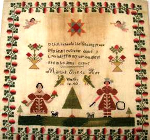 Original Martha Stone sampler