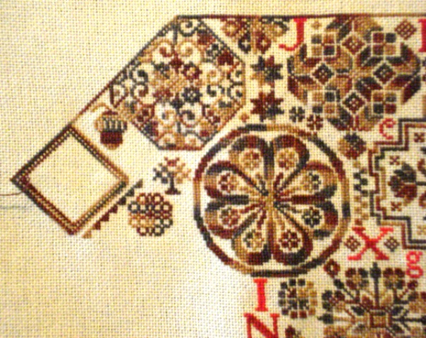 Most recently stitched on Quaker Virtues